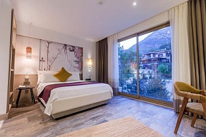 Double Room with Mountain View (French Balcony) | Melanippe Relaxing Hotel